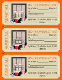 movie theater birthday party invitations cimvitation