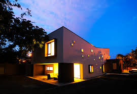 modern inspiring house integrating colourful lights in timisoara