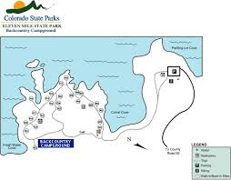 Colorado State Parks Map by Eleven Mile State Park Maplets