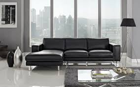 Modern Sectional Sofa With Chaise Anika Leather Sectional Left Facing Chaise