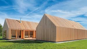 holzhaus mit hof moderne einfamilienhäuser - Moderne Holzhã User Architektur