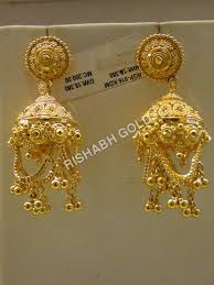 gold jhumka earrings traditional jhumka earrings jewelry traditional