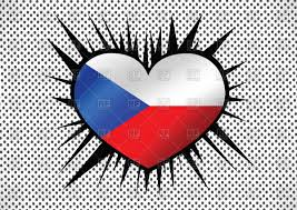 Chez Republic Flag National Flag Of Czech Republic Heart Shaped Royalty Free Vector