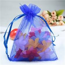 large organza bags wholesale 200pcs lot drawable royal blue large organza bags 17x23
