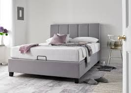 florence wolf grey upholstered ottoman bed frame storage beds beds