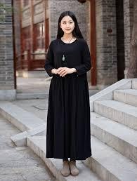 linen dress cotton maxi dress casual loose long dress party dress