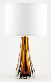 Glass Table Lamp Murano Amber Glass Table Lamps Jean Marc Fray