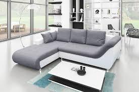 canap d angle blanc et gris canapé d angle convertible tudor gris blanc achat vente canapé