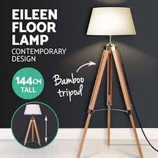 Vintage Retro Floor Lamp Black Tripod Modern Contemporary Iron Frame Floor Lamp Vintage