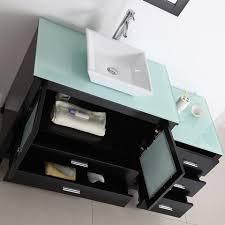 54 Bathroom Vanity Virtu Usa Brentford 54 Inch Single Sink Bathroom Vanity Tempered