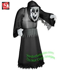 Halloween Blow Costumes Gemmy Airblown Inflatable 3 1 2 U0027 Grim Reaper Beckoning
