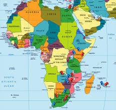 Map Of Africa Political by Oxygen Group Photography Africa
