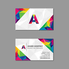 Free Graphics For Business Cards Polygonal Business Card In Multiple Colors Vector Free Download
