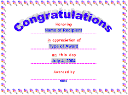 congratulations certificate word template award certificates award