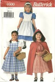 Halloween Costumes Sewing Patterns Classy Patterns Butterick 4600 Girls Wizard Oz Red Riding