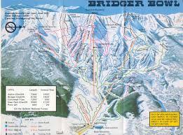 World Map 1975 by Bridger Bowl Ski Area Skimap Org
