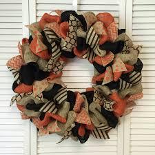 large burlap halloween wreath halloween door decor fall