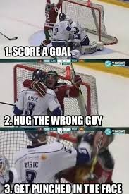 Funny Nhl Memes - funny hockey meme hug the wrong guy picture for facebook