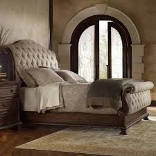 Low Price Bedroom Sets Hooker Furniture Adagio Tufted Upholstered Bed Sleigh Beds At