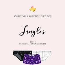jingles christmas gift box 3 cheekies 1 lounge shorts i u0027m