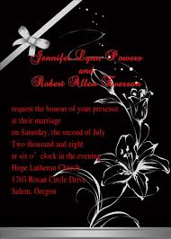 and black wedding invitations lotus wedding invitations futureclim info