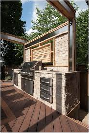 backyards beautiful with a built in barbeque stone countertops