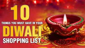 10 things you must have in your diwali shopping list youtube