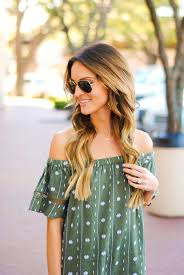 embroidered off the shoulder dress lauren kay sims