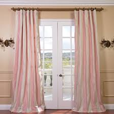 Light Pink Curtains For Nursery Light Pink Stripe Faux Silk Taffeta Curtain Panel
