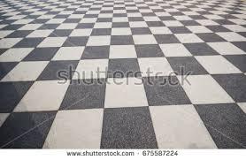 Black And White Ceramic Floor Tile Black White Vintage Floor Tiles Background Stock Illustration