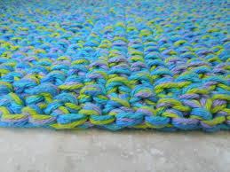 Blue Bath Mat Cotton Bath Mat Free Knitting Pattern