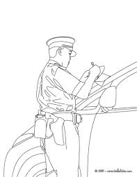 police officer car control coloring pages hellokids com