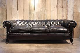 Leather Chesterfield Sofa Vintage Black Leather Chesterfield Sofa For At Pamono Images On