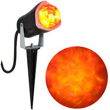 Halloween Lights For Sale Lightshow Fire And Ice Red Orange Spotlight 56777 The Home Depot