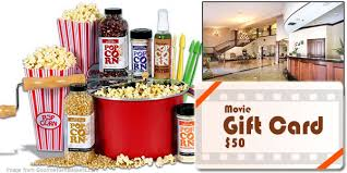 theater gift cards may 2013 gourmet popcorn gift basket and 50 gift card with