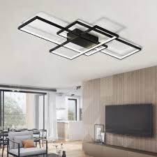 Ceiling Lights For Office Modern Black Led Flush Mount Ceiling Light Square Combination