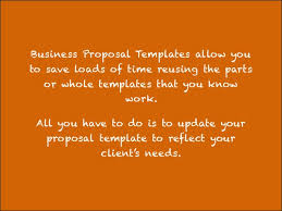 how to create a business proposal template