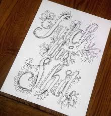 swear word coloring book stop swearing start