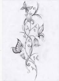 vine tattoos flower vine and butterflies by ashtonbkeje on