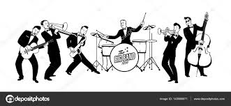 swing jazz orchestre de jazz swing style r礬tro illustration de vecteur de