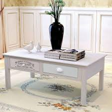 Shabby Chic Side Table Vidaxl Shabby Chic Coffee Table Wood R5r6 Ebay