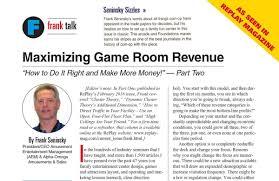 maximizing game room revenue part 2