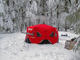 eskimo fatfish 6120i pop up shelter review loomis adventures