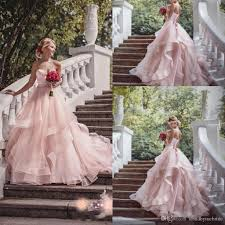 garden wedding dresses discount 2017 blush pink garden wedding dresses with ribbon 2016