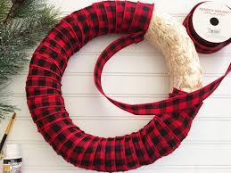 plaid christmas plaid christmas wreath frugal eh