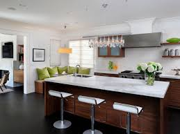 cool modern kitchen island on kitchen with glass island