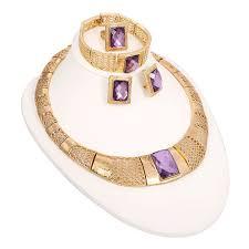 necklace set 18k gold plated necklace set