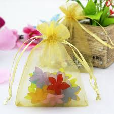 organza bags wholesale 500pcs 7x9cm gold organza bags wedding favors packaging jewelry