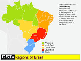 North East Map Brazil Maps Amazonia North East Centre West South East South
