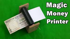 how to make a money printer machine fun magic trick youtube